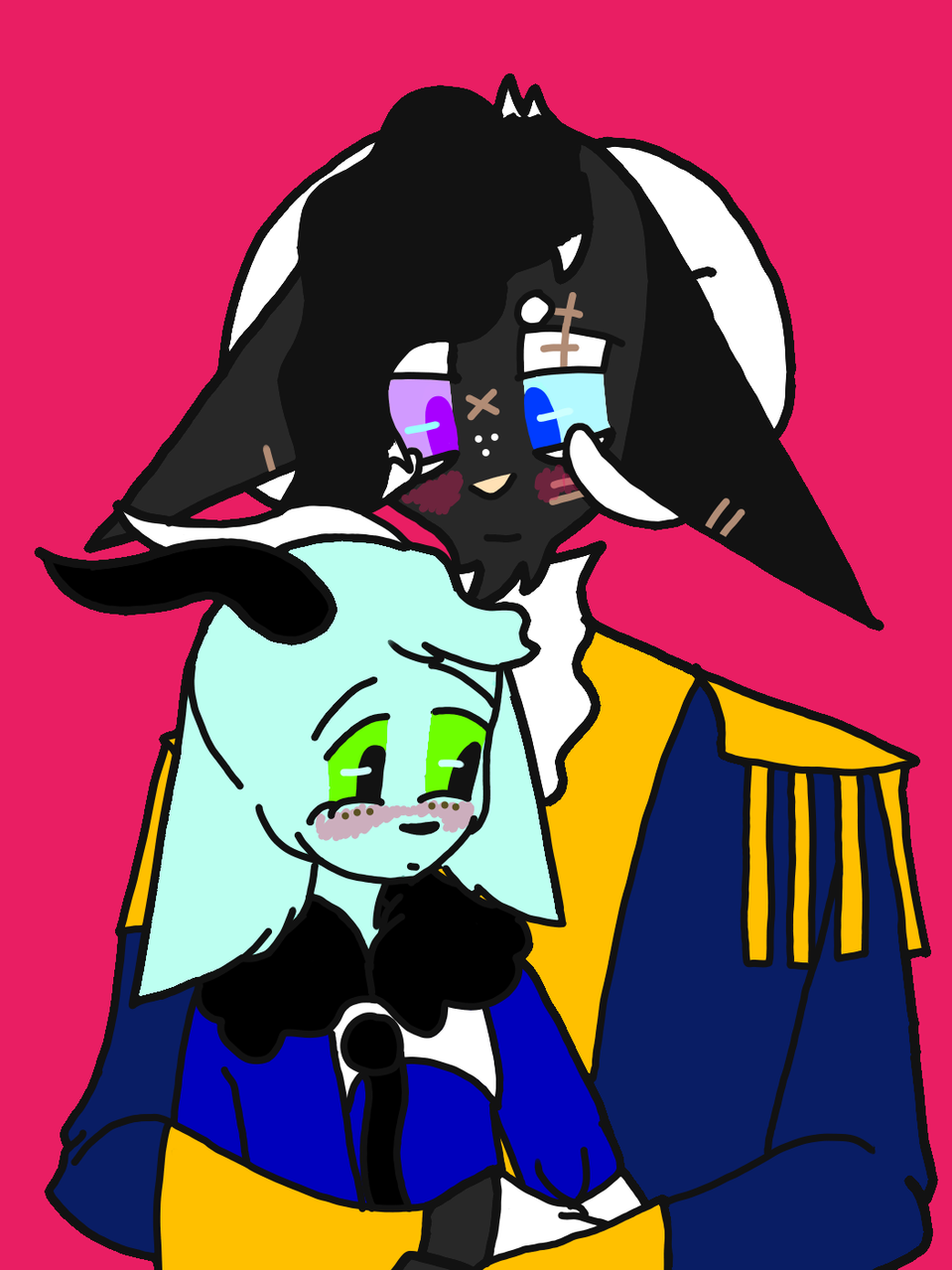 Sooty and Xander  Illust of HeadHonchoCodex medibangpaint Codex request Emo furry boy dark HeadHonchoCodex custom oc