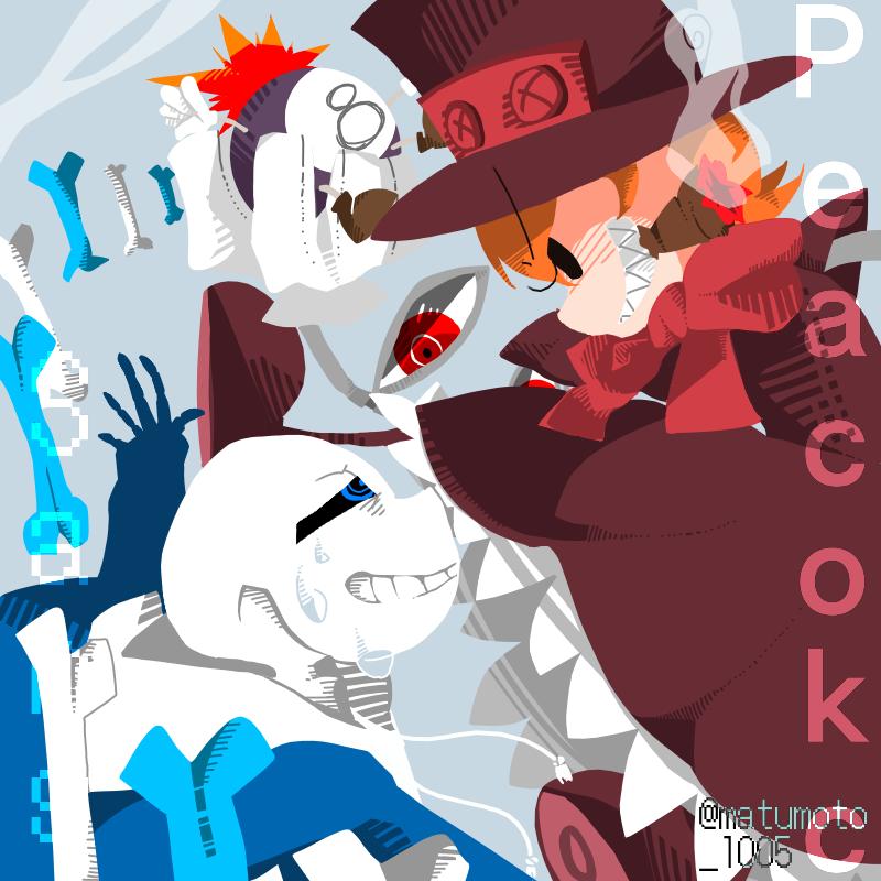 undertale skullgirls crossover peacock vs sans 松本氏