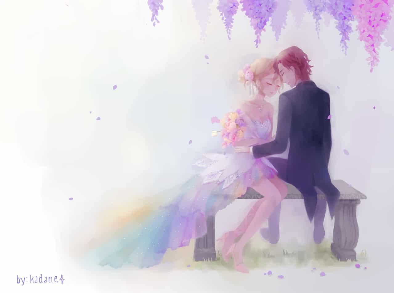 Forever and Always Illust of Pink.Crystal110 spring oc animecouple digitalpainting