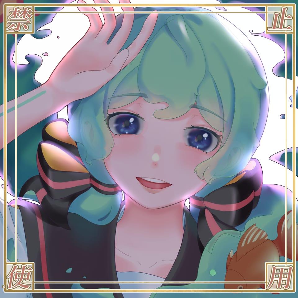 瓶初音 Illust of SzeMinWong VOCALOID girl 瓶初音 sailor_uniform cute hatsunemiku head digitalpainting
