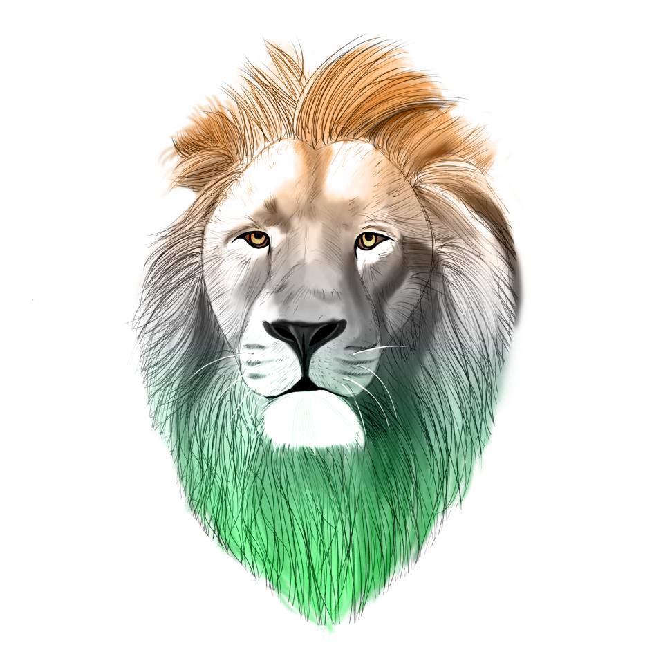 Animal/Asiatic lion (India) Illust of brave john April.2020Contest:Color ARTstreet_Ranking brag.your.country color animal Lion medibangpaint