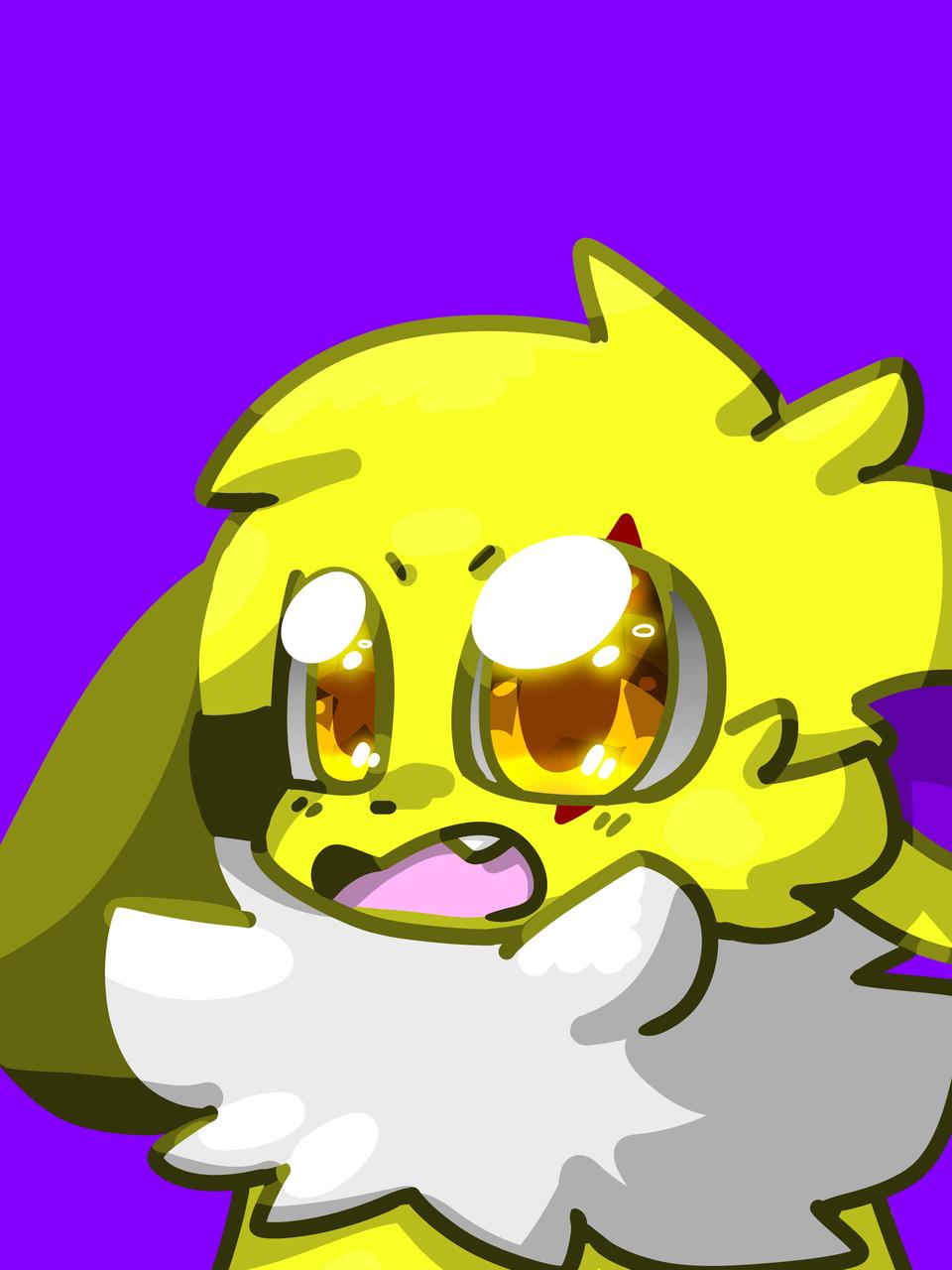 Happy Joltee (Redraw) Illust of ✨ PKN-133 ✨ digital cute Jolteon furry oc medibangpaint PKN-133 redraw pokemon