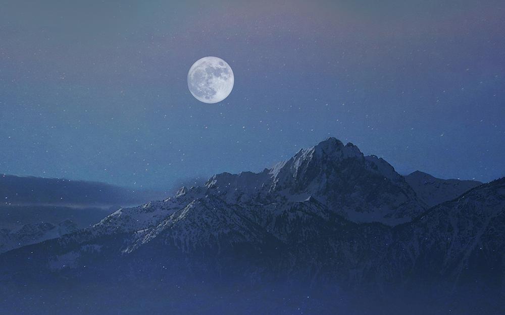 TDTB found out the night is glittering blue Illust of G-Noor fantasy ARTstreet_Ranking sky painting night pink moon scenery original illustration