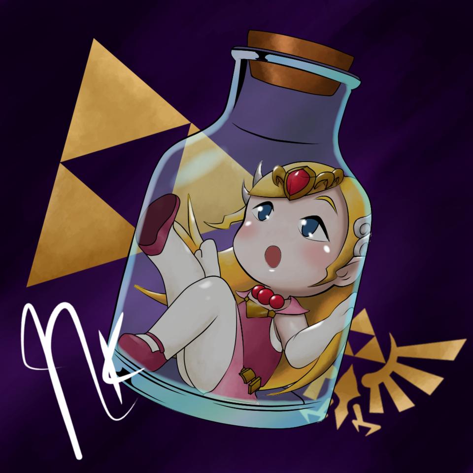 Zelda Wind Waker Illust of NeokVG tracedrawing wind fanart Trace&Draw【Official】 bottle Zelda princess ゼルダの伝説シリーズ waker
