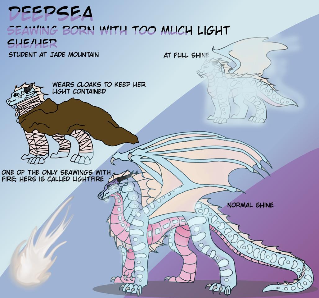 27 FOLLOWERS SPECIAL- Deepsea ref Illust of Amberfrost medibangpaint WingsofFire lightfire seawing WoF oc deepsea wof