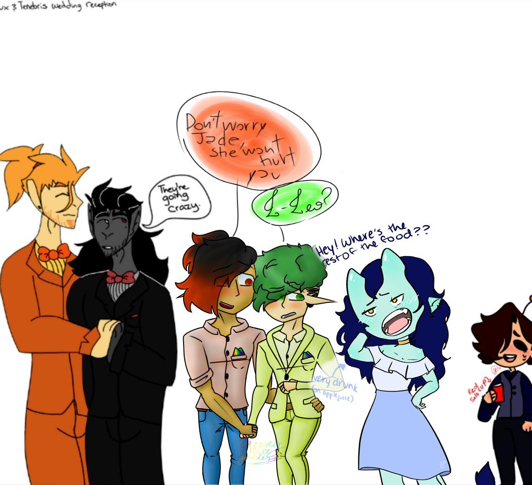 [Wedding collab with IdiotKeeble] Illust of jade.viridi78 medibangpaint