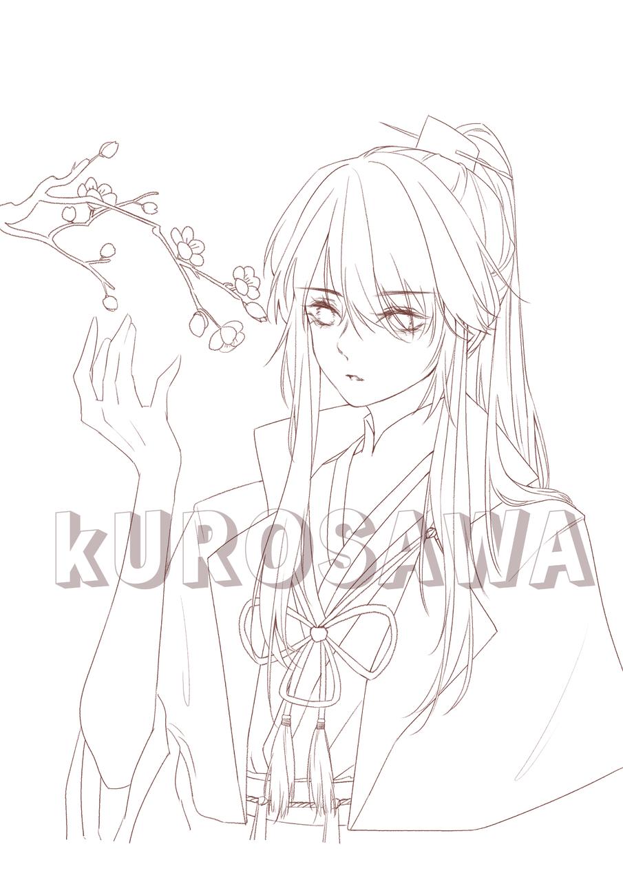 学姐的oc线稿 Illust of KUROSAWA medibangpaint oc line_art 古风 head