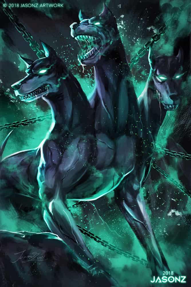 狗年,地獄犬 Illust of Jasonz 2ndMCPOillustration monster dog 地獄犬 orignal 賀圖 original newyear
