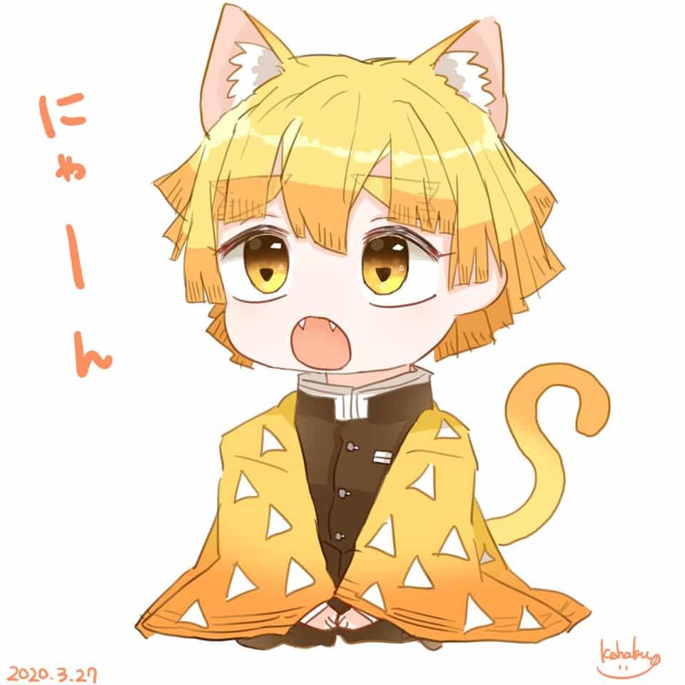 無題 Illust of 碧空こはく。 KimetsunoYaiba cat_ears AgatsumaZenitsu boy
