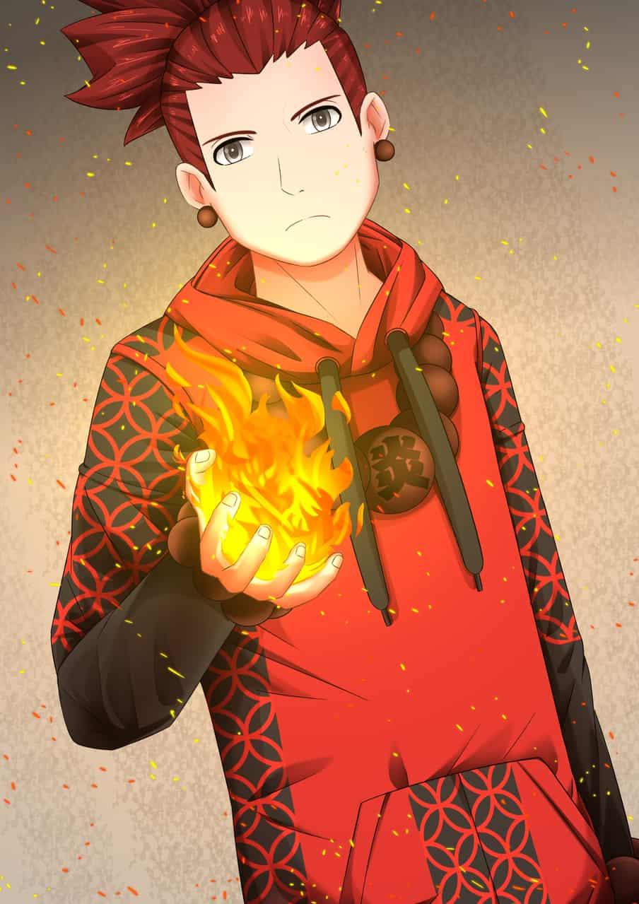 赤坊主 Illust of 金猩 Post_Multiple_Images_Contest medibangpaint youkai 赤坊主 现代 boy original fire