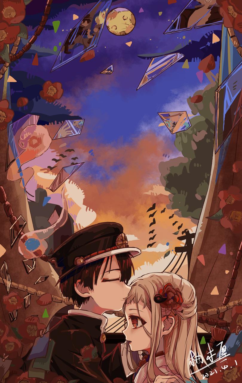 花宁₍ᐢ •⌄• ᐢ₎ Illust of 柚木厘 medibangpaint NeneYashiro Toilet-boundHanako-kun 同人 花宁