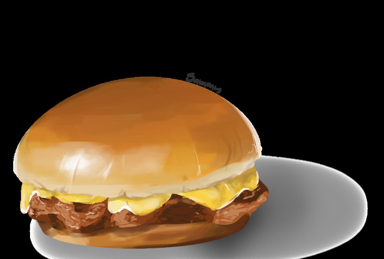 Food/Cuisine - Hamburger Illust of soda_.phrog brag.your.country america burger cheeseburger US USA hamburger