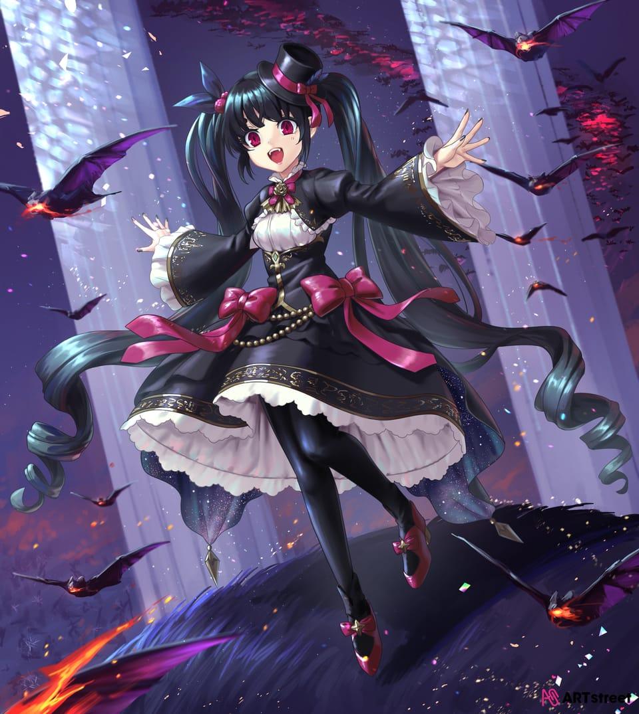🦇 Illust of チガサキユウ fantasy ColoringContest コウモリ