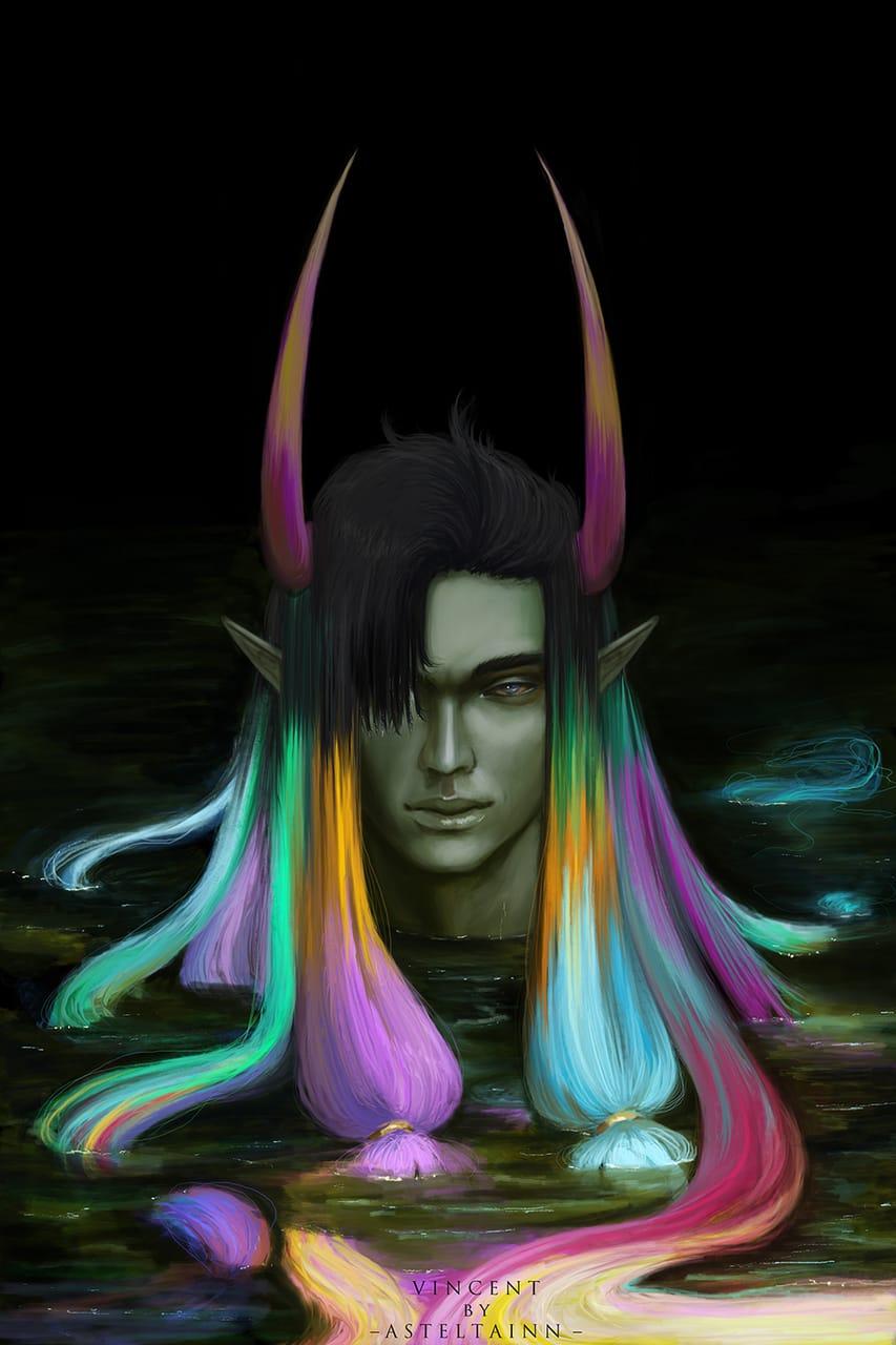 Vincent Illust of asteltainn demonoc demon oc