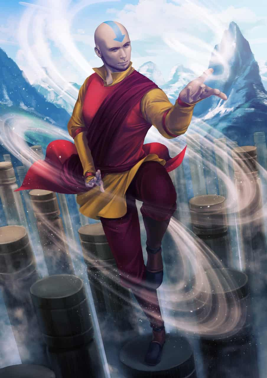 Avatar Aang Illust of artalais airbender Avatar Aang