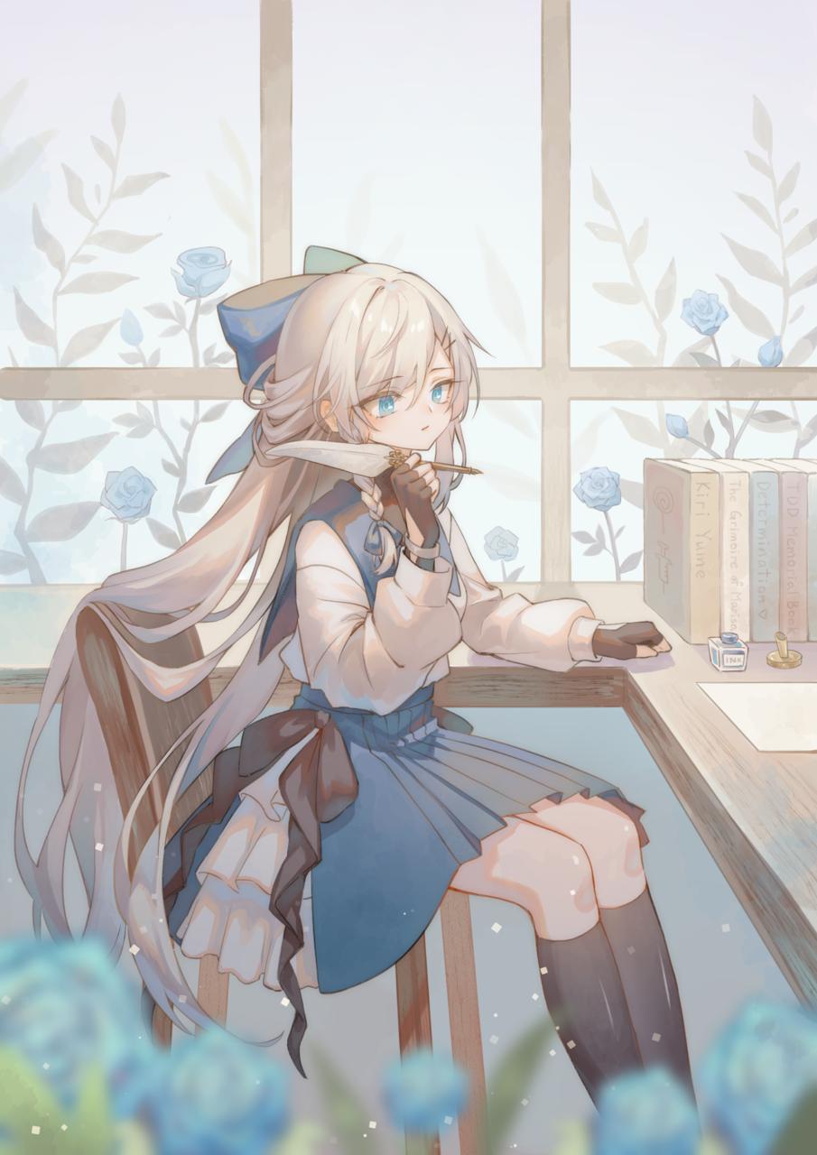 BLUE Illust of KiriYume January2021_Contest:OC girl oc