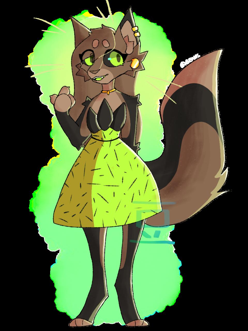 Kiwi (raffle adopt from BBO) Illust of 💚beans💙 furry oc adopt