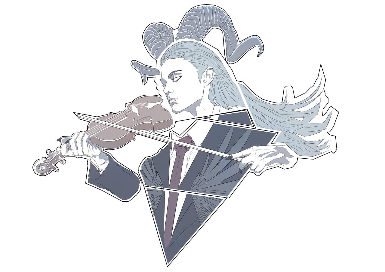我所創作的祕密組織和標誌是  黑暗法院的惡魔 組織 Illust of Aki MySecretSocietyContest