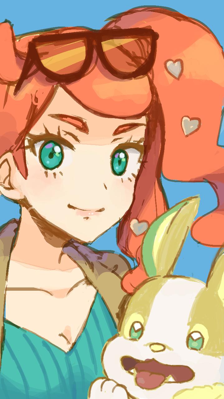 ソニアとワンパチ Illust of ボラボボル medibangpaint ワンパチ PokémonSwordandShield pokemon ソニア(ポケモン)