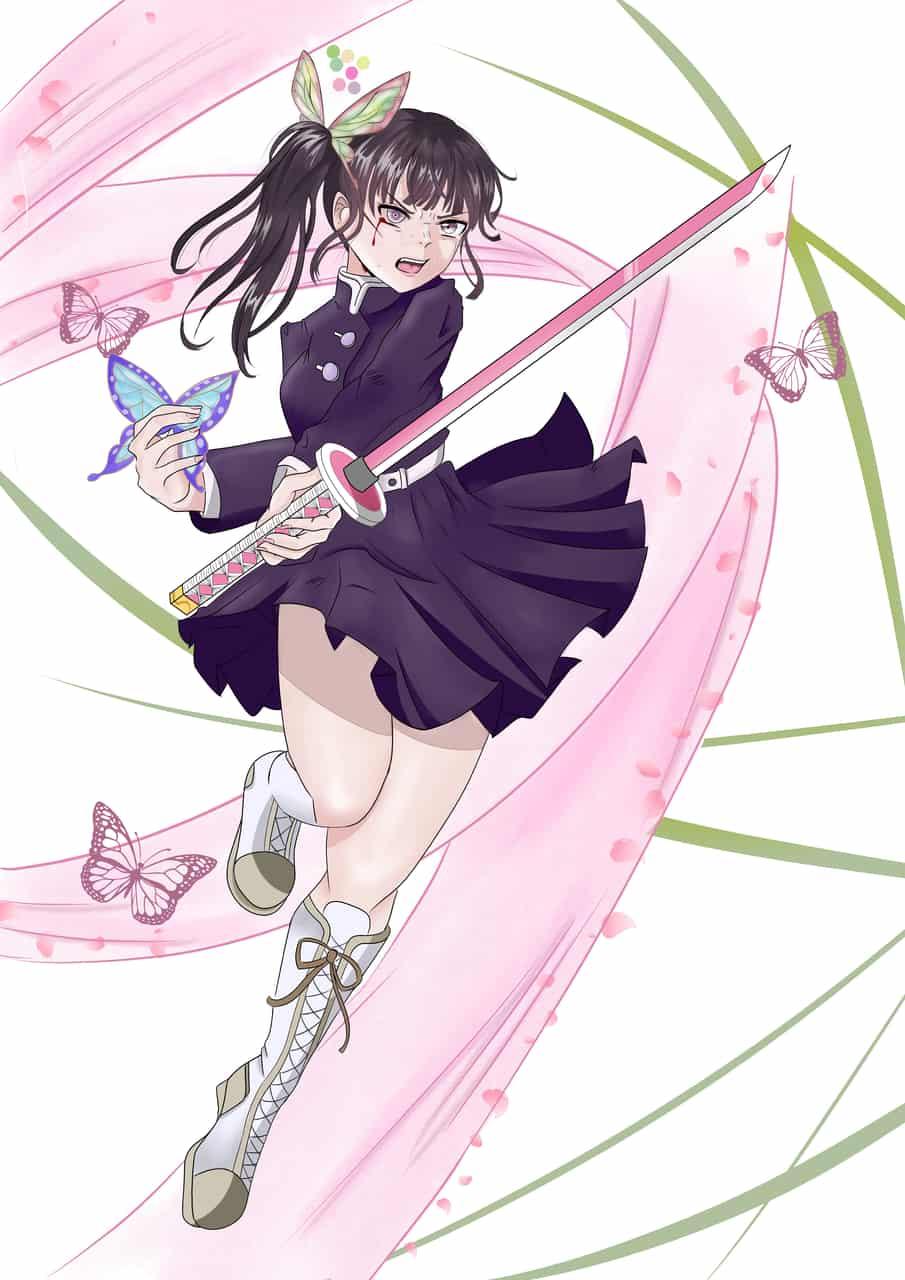 kanao ultimate battle Illust of silvs DemonSlayerFanartContest anime illustration KimetsunoYaiba manga art TsuyuriKanao mangaart
