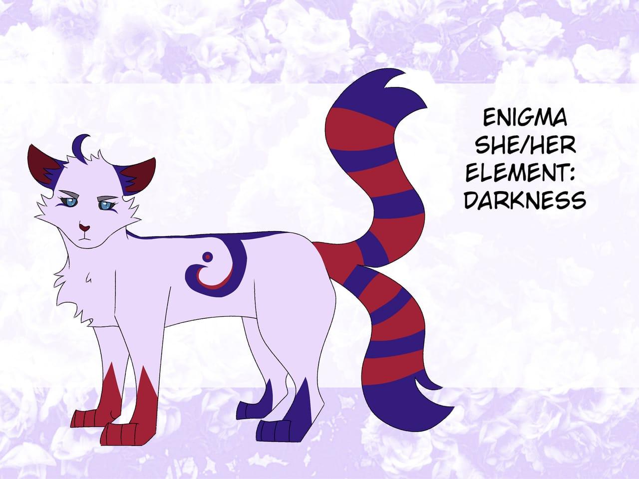 Enigma [OC bio] Illust of AurumLupus fantasy catoc demon oc medibangpaint cat_ears cat referencesheet digital pink