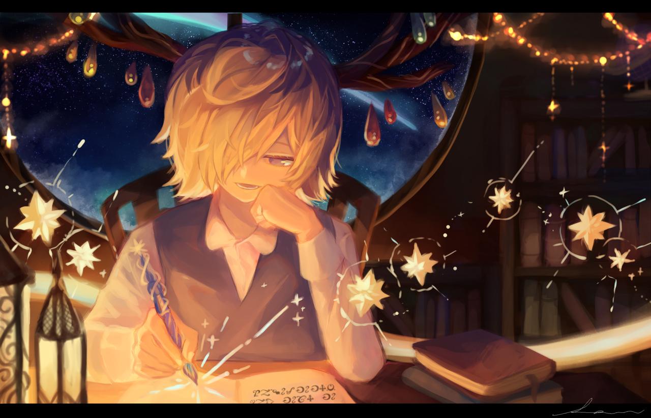 「紡ぎたい物語がたくさんあるんだ」 Illust of 星灯れぬ fantasy 角っ子 star original ホシサガスモノ