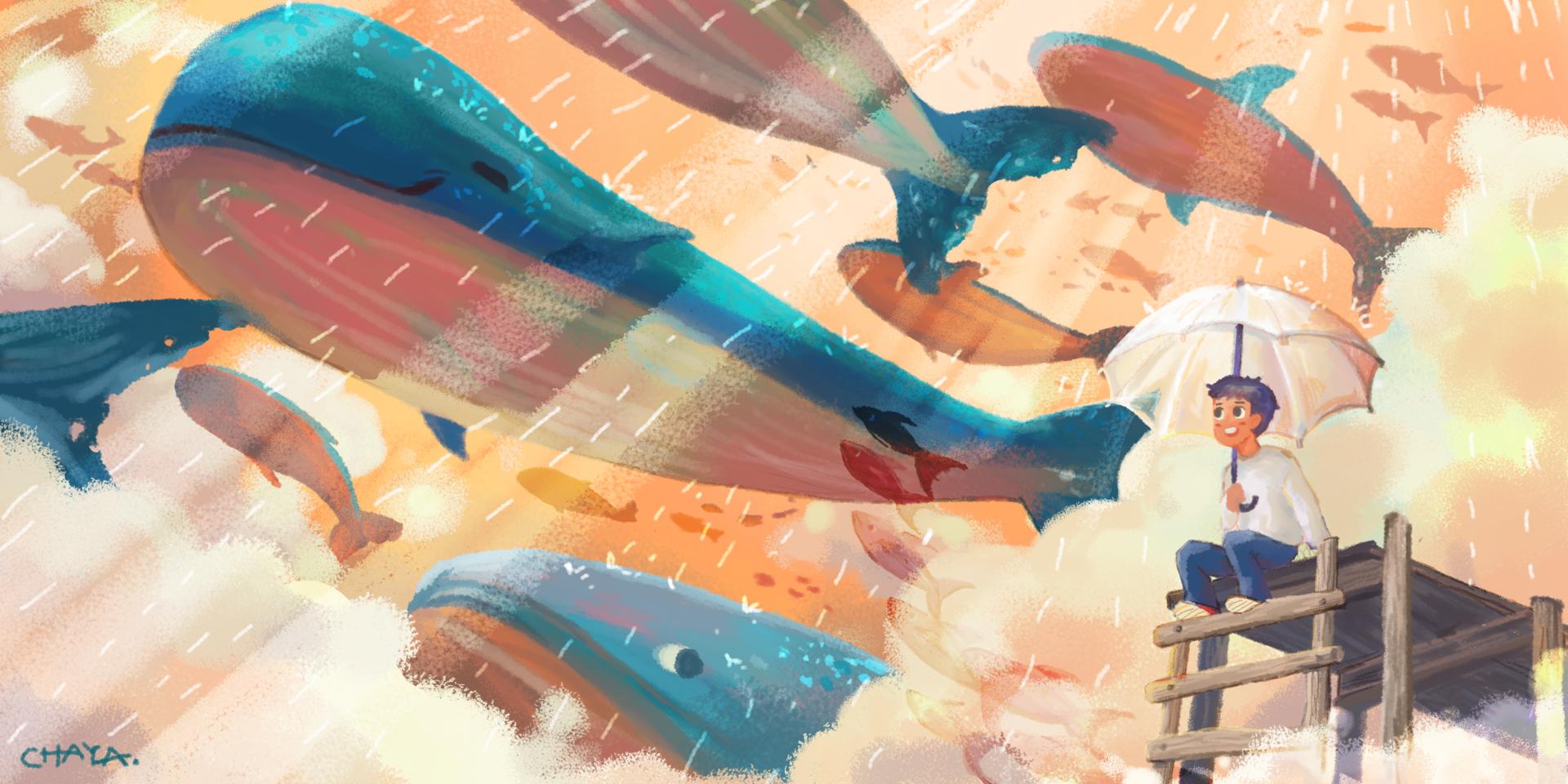 sea Illust of CHAYA medibangpaint