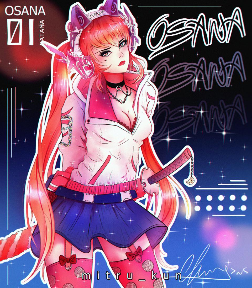 Cyberpunk Osana Illust of Mitru Kun YandereSimulatorFanArtContest OsanaNajimi Yandere osana yanderesimulator