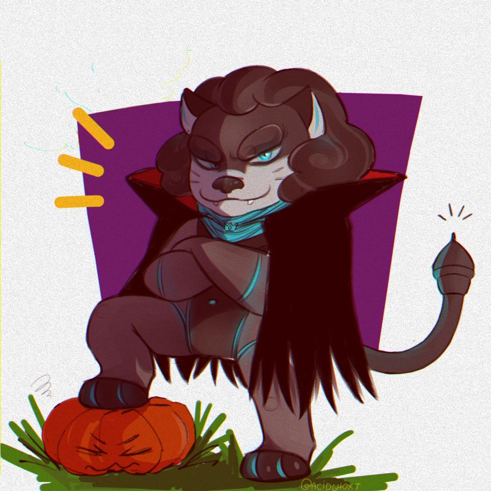 Leon is ready for Halloween !! 🍁🎃 Illust of Ryou HuionDesign ilustração medibangpaint digital