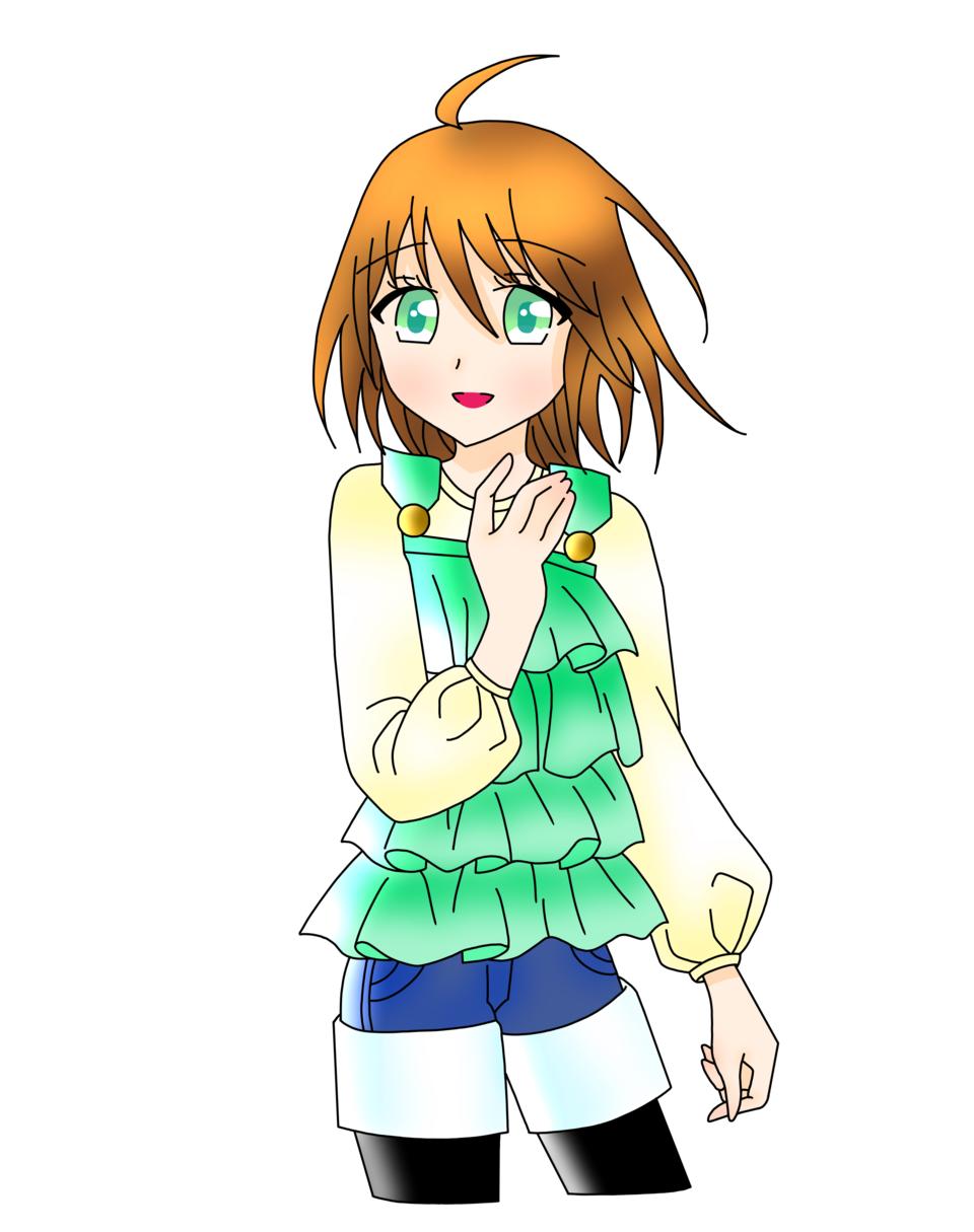 風になびく(ゆすらうめ様) Illust of 桜 宮美 ゆすらうめ doodle 桜宮美
