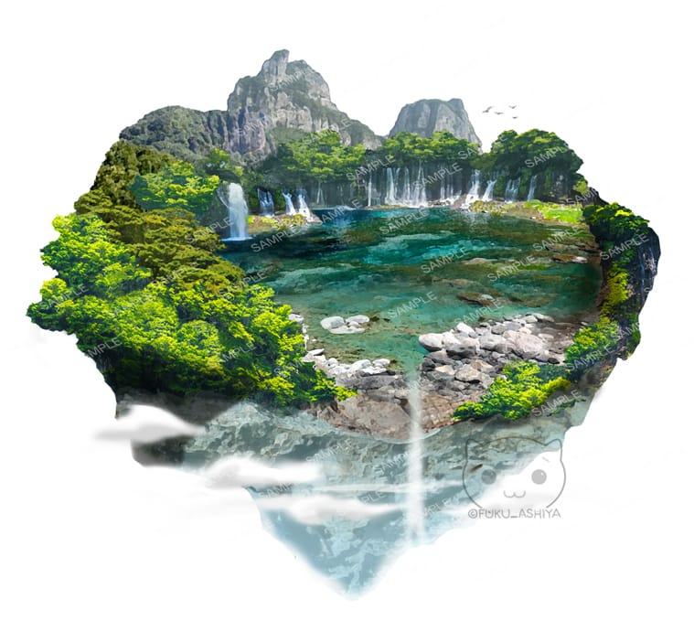 浮かぶ島 Illust of 芦屋ふく