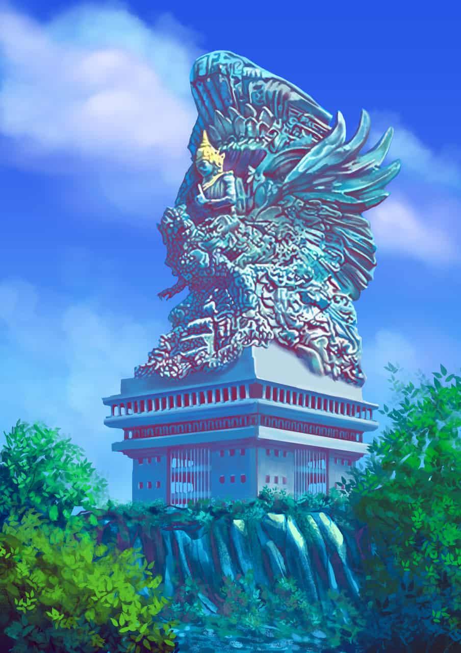 Garuda wisnu kencana statue Illust of reza.afre brag.your.country