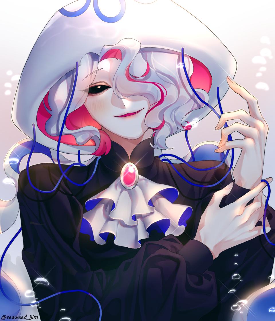 oc Illust of 미역 jellyfish 바다