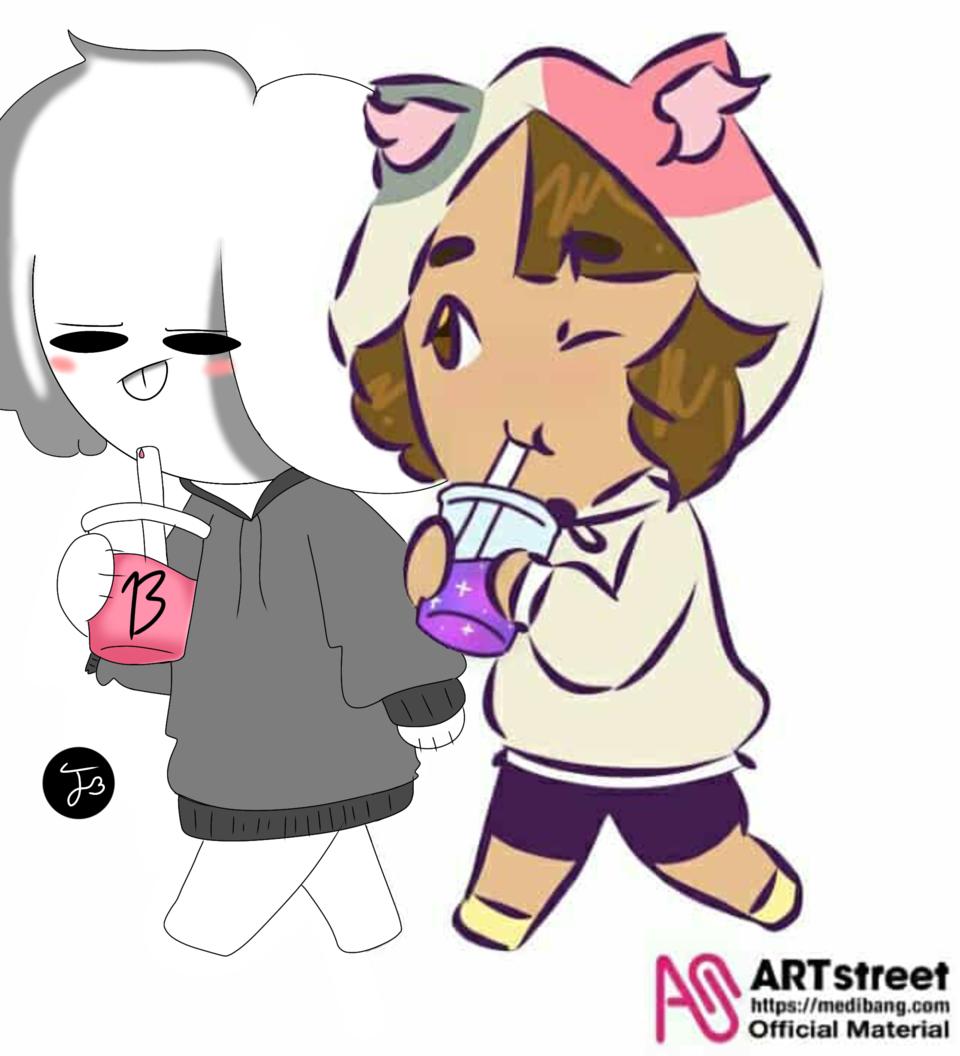 Quick collaboration with: MochiiNiko Illust of 🏳🌈🎂Kuchen_Kitsune パイ大好き❤🦊 medibangpaint