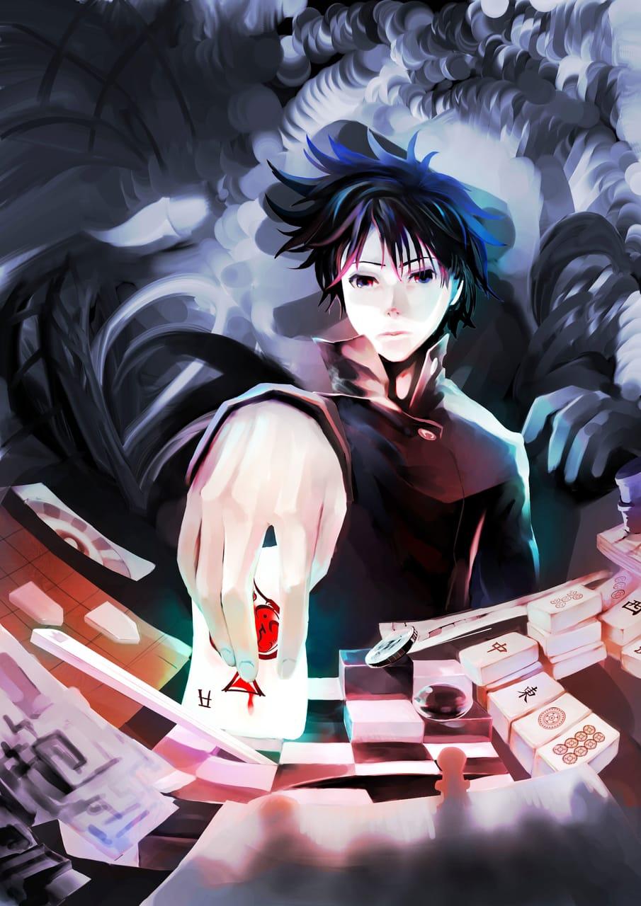 Confuse-Game (混乱のゲーム) Illust of Lear MySecretSocietyContest JujutsuKaisenFanartContest February2021_Fantasy games fanart JujutsuKaisen chess Shougi art Megumi_Fushiguro cards