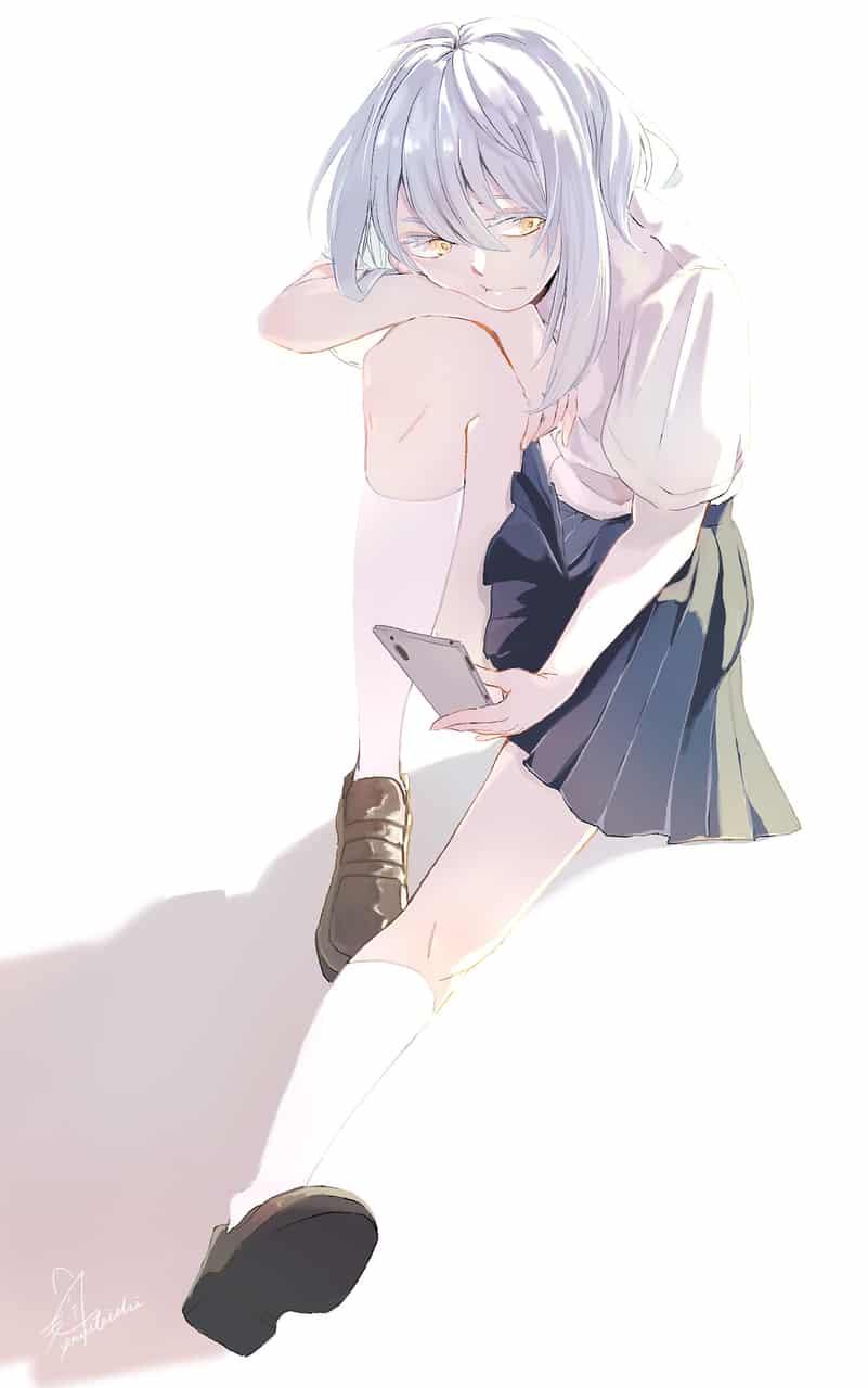 今年の夏は退屈そうだ Illust of 陳田こころ ARTstreet_Ranking girl 女子高生 銀髪 original illustration painting oc doodle