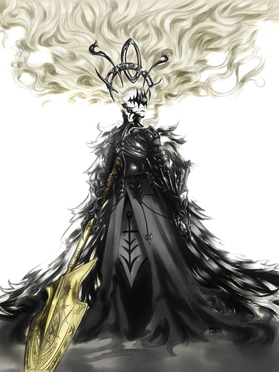 Alastor Illust of Manalodia fantasy March2021_Creature digital demon Alastor spear oc HeraphenttheBlack LostChildrenPt.1 fallenangel characterdesign