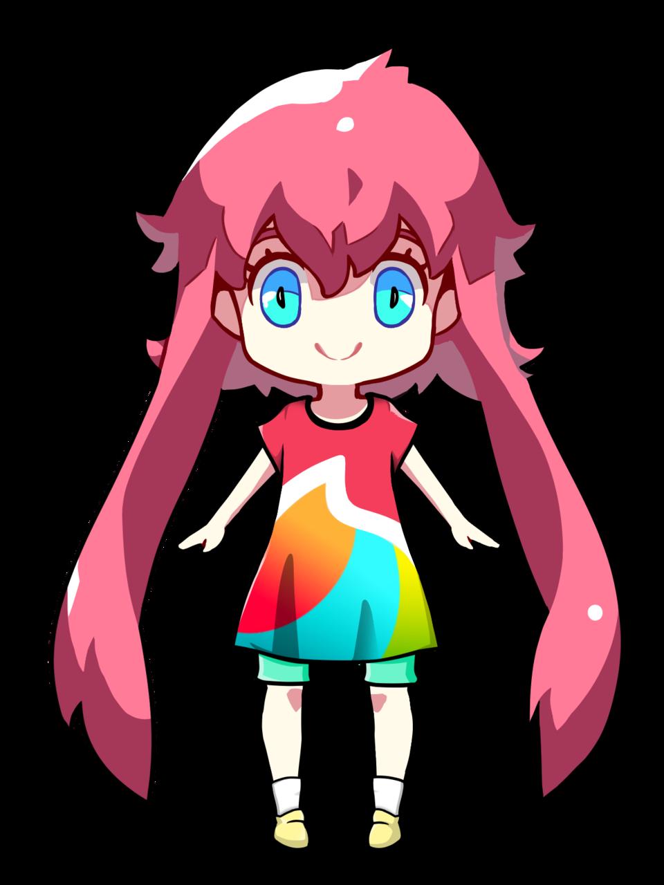 Medi-chan wearing medibang shirt/kuroneko