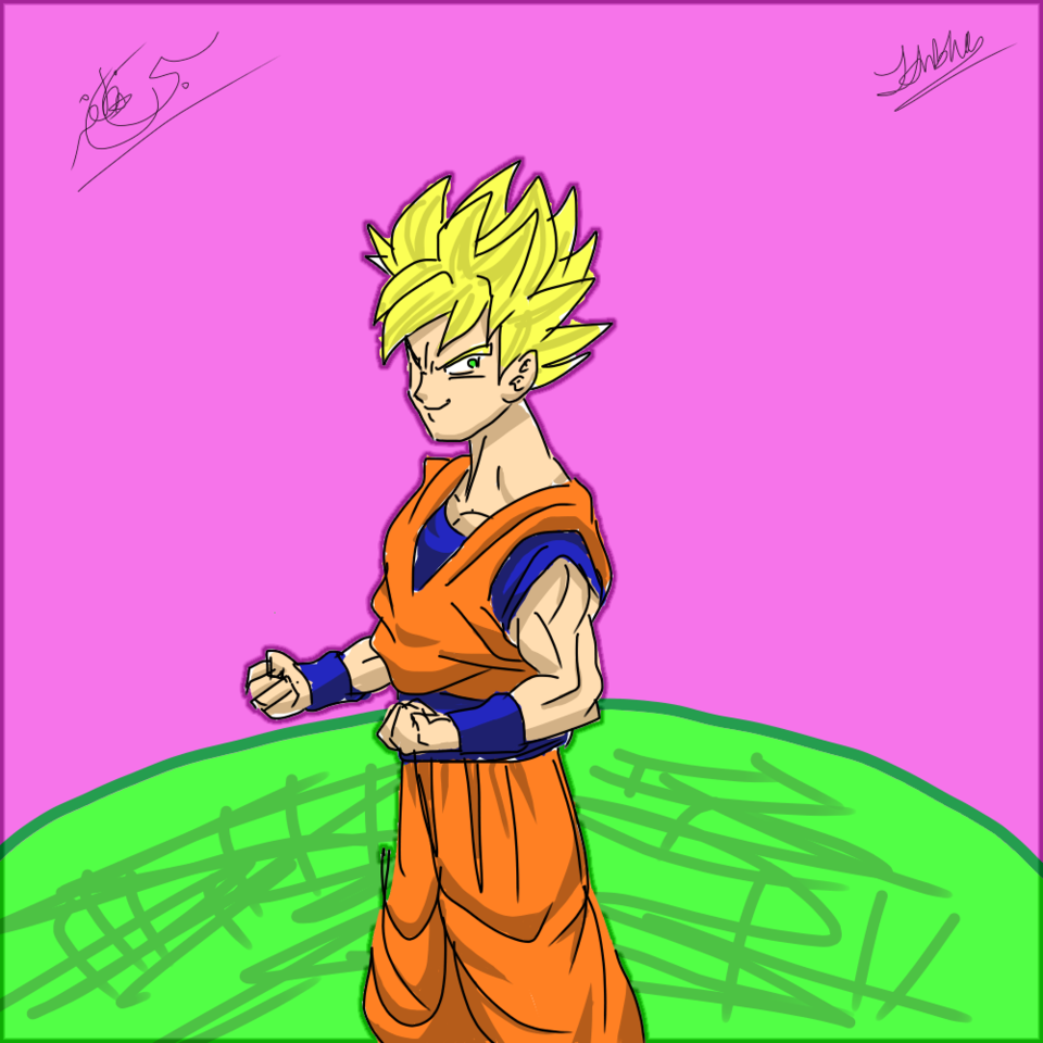 Goku Super Saiyan Test Drawing Kingofiron257