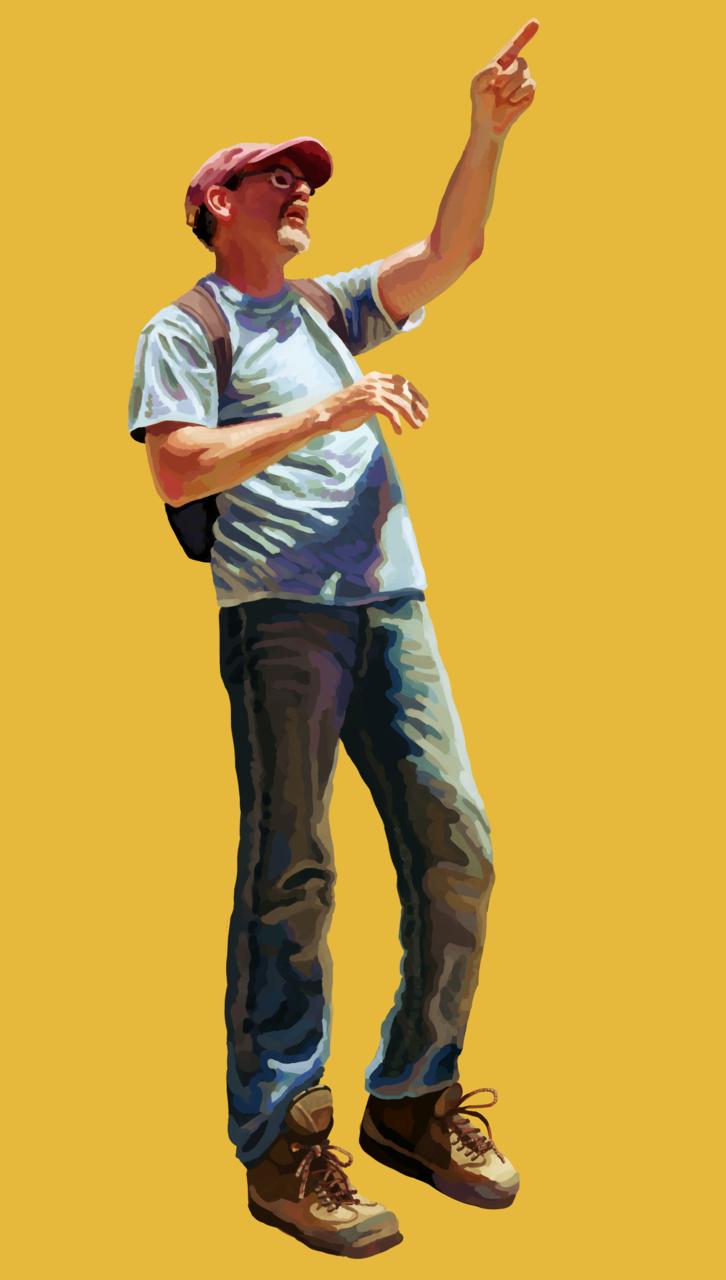 Quick Painting Illust of CaputMortuum realistic yellow portrait