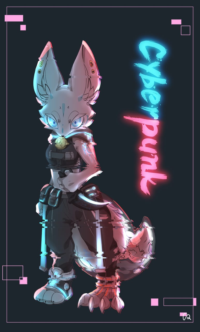 Cyberpunk Illust of INU January2021_Contest:OC