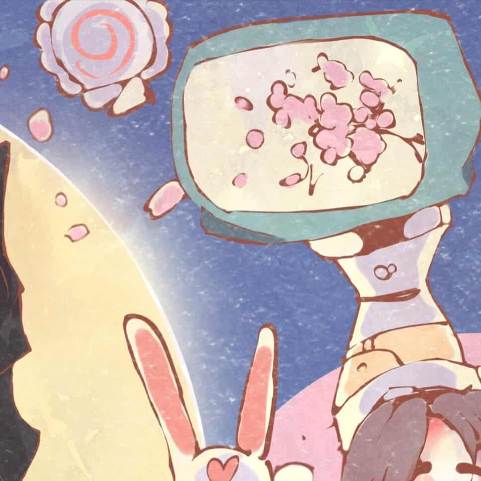 Tsuki No Sekai Illust of Jojodoboro school Post_Multiple_Images_Contest iPad_raffle boy moon Usagi star cute Tsuki