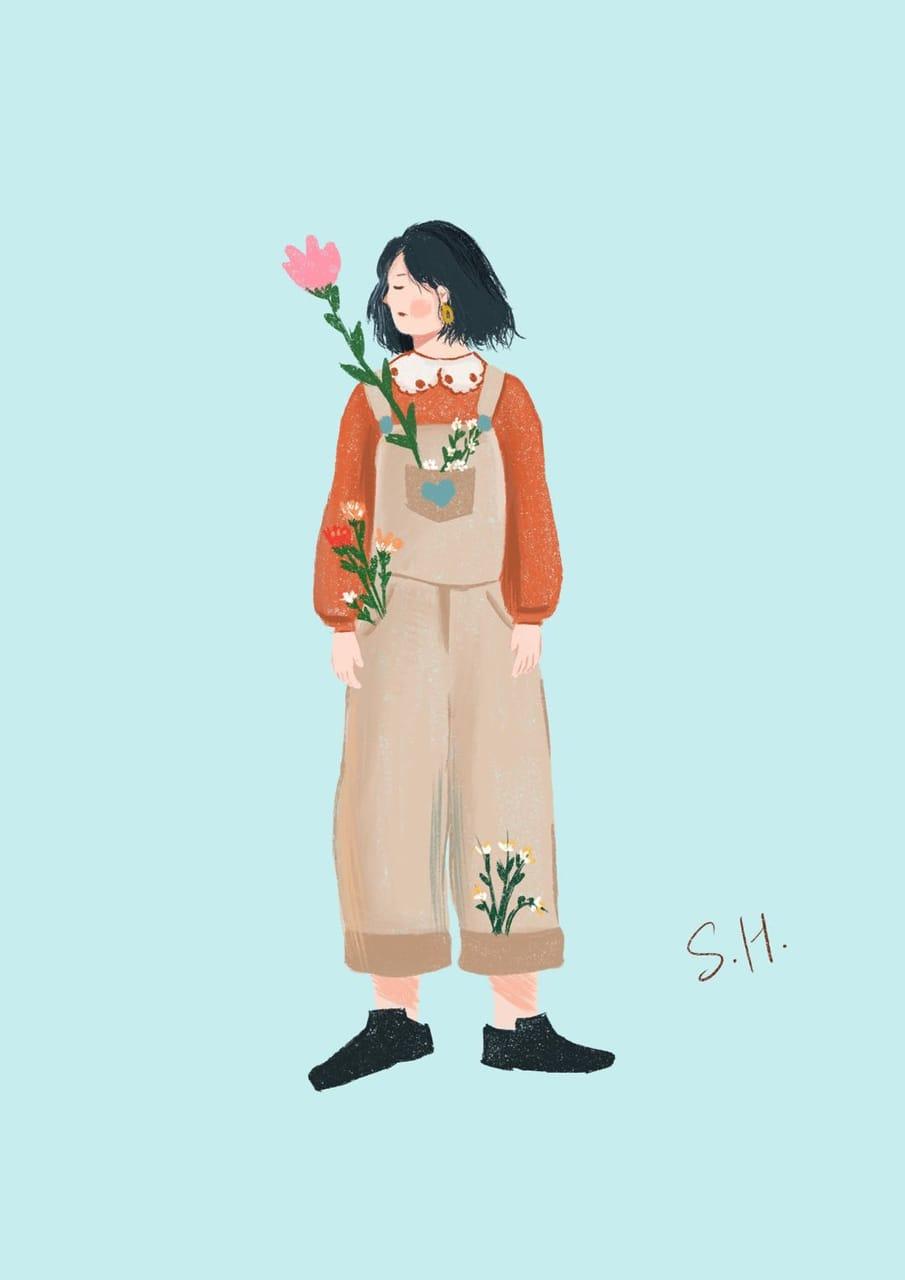 Spring Illust of S.H. April2021_Flower