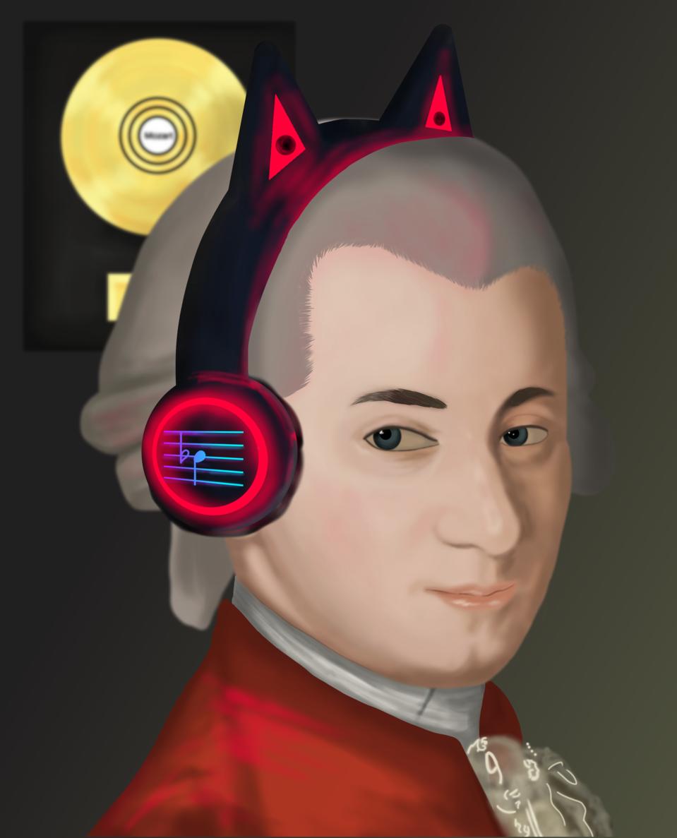 Mozart Retrato póstumo, obra de Barbara Krafft Illust of Arthurodarck MasterpieceFanart medibangpaint art Wolfgang fanart Amadeus digitalpainting cute Moz music Mozart