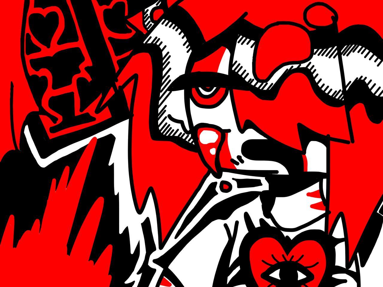 rkgk Illust of 🥩𝕋𝕚𝕦🥩 black medibangpaint rkgk red