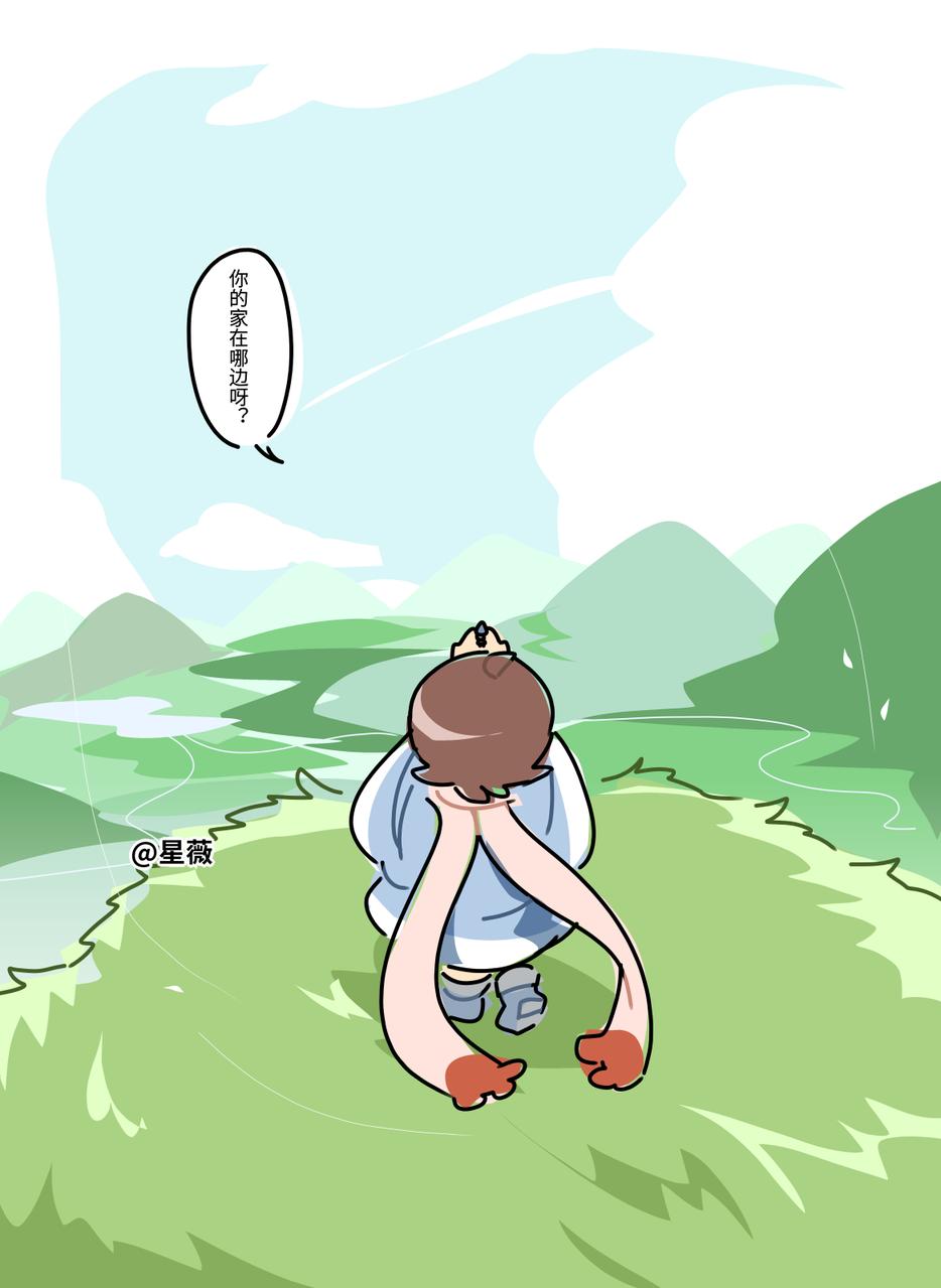 【原创人物】 Illust of 人形丿星薇 medibangpaint oc original 孩子厨 lazy 鸟笼花庭 孩厨