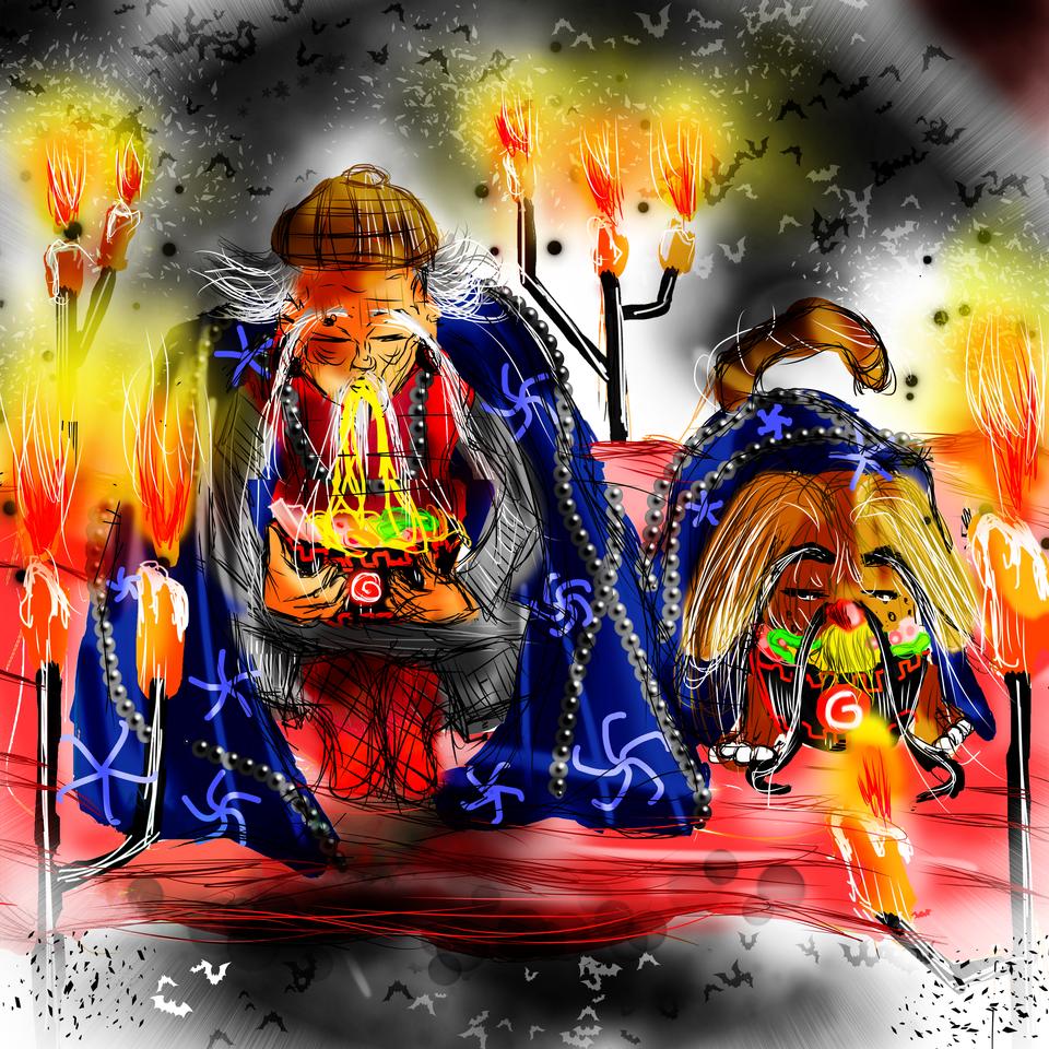 The grandpa and his friend Illust of AcP Ramen