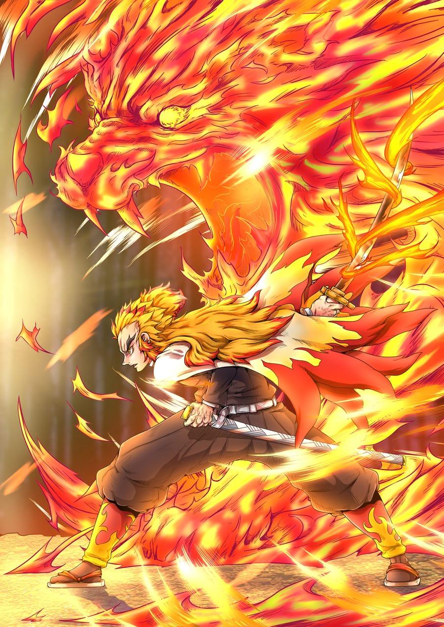 未来の為に Illust of なべっち 炎柱 KimetsunoYaiba 炎虎 炎の呼吸 RengokuKyoujurou なべっち
