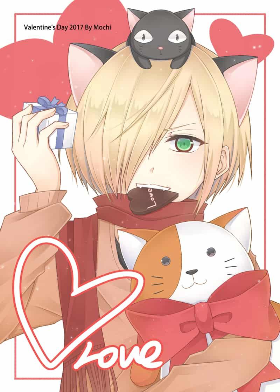 【バレンタインデー】YURIO Illust of Mochi ✦ ValentinesDay doodle YuriPlisetsky Yuri!!!_on_Ice 情人節 yurio