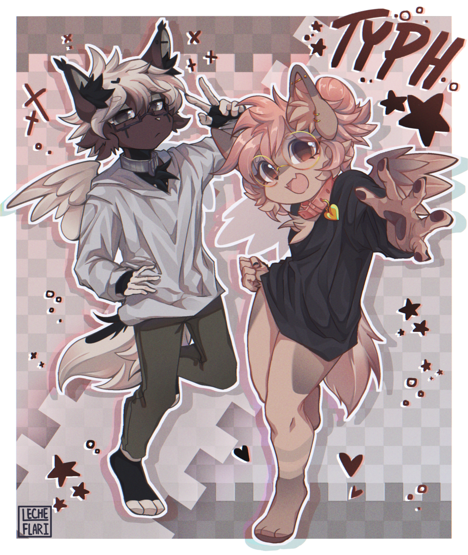 [FANART] Typh Illust of LecheFlari digital art oc cute furry